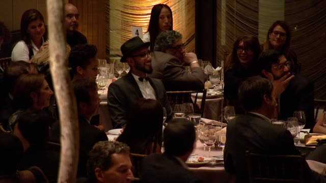 Alicia Keys Swizz Beatz and guests at 8th Annual Children's Rights Benefit at Four Seasons Restaurant New York on October 7 2013
