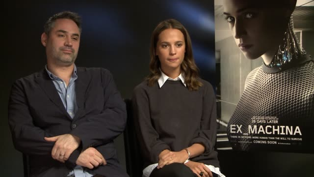 INTERVIEW Alicia Vikander Alex Garland on the sexuality of the robot at 'Ex_Machina' on January 19 2015 in London England