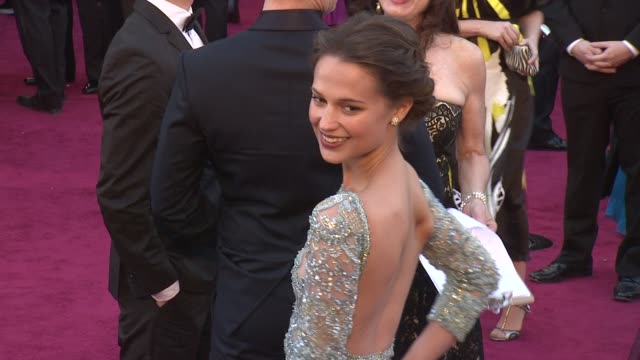 Alicia Vikander at 85th Annual Academy Awards Arrivals in Hollywood CA on 2/24/13
