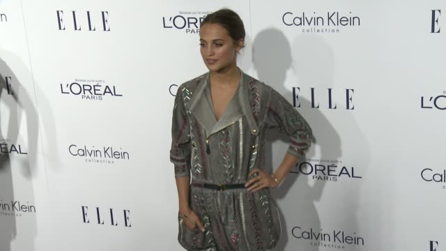 Alicia Vikander at the 2015 ELLE Women in Hollywood Awards at Four Seasons Hotel Los Angeles at Beverly Hills on October 19 2015 in Los Angeles...