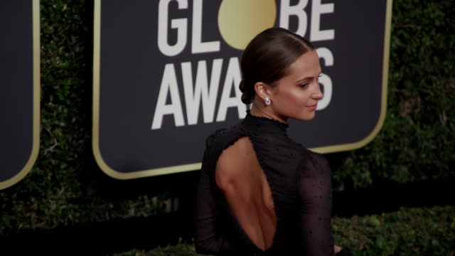 Alicia Vikander at the 75th Annual Golden Globe Awards at The Beverly Hilton Hotel on January 07 2018 in Beverly Hills California