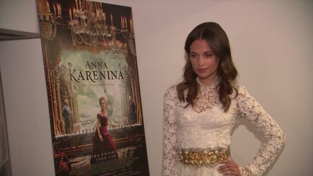 Alicia Vikander at the 'Anna Karenina' Special Screening in New York NY on 11/7/12