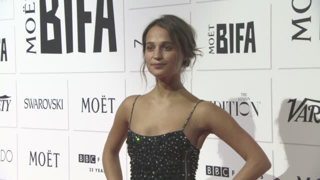 Alicia Vikander at The Moet British Independent Film Awards at The Old Billingsgate on December 6 2015 in London England