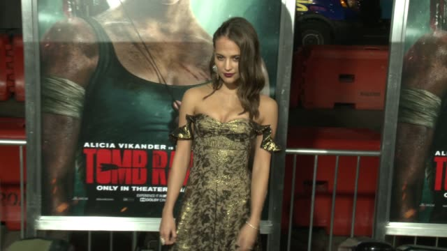 Alicia Vikander at the 'Tomb Raider' Premiere at TCL Chinese Theatre on March 12 2018 in Hollywood California