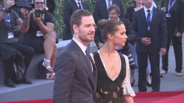 Alicia Vikander Michael Fassbender at The Light Between Oceans' Red Carpet 73rd Venice Film Festival at Palazzo del Cinema on September 01 2016 in...