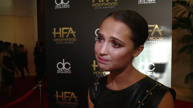 INTERVIEW Alicia Vikander on what it means to receive this honor what she loved most about playing this character working with Eddie Redmayne and...