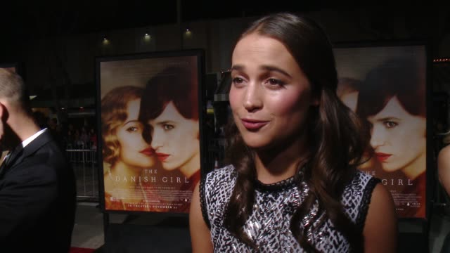 INTERVIEW Alicia Vikander on what the challenge of playing Gerda was how she researched for the role and what makes Eddie such a distinctive actor at...