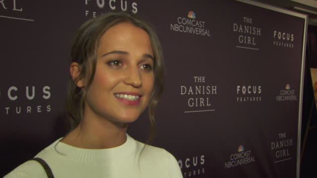 INTERVIEW Alicia Vikander talks about the character she plays in the movie on the White House 'Champions of Change' event earlier today at LGBT...