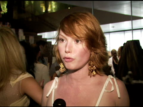 alicia witt on her prada dresses that she has owned for many years that are still in style, on how she wore a prada dress out last night and even... - alicia witt stock-videos und b-roll-filmmaterial