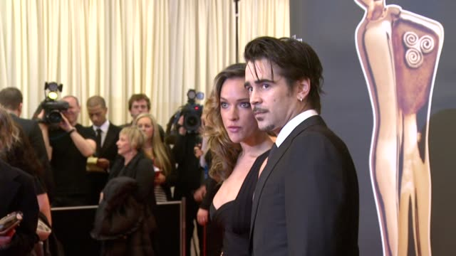 alicja bachleda and colin farrell at the irish film & television awards at dublin . - irish film and television awards stock videos & royalty-free footage