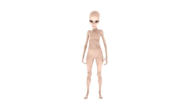 alien standing idle - alieno video stock e b–roll