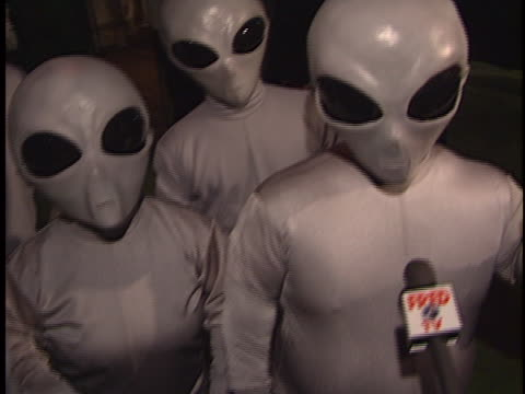 Aliens at the XFiles Wrap Party at House of Blues