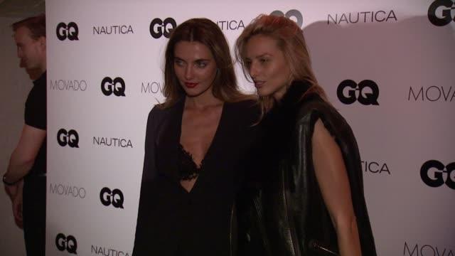 Alina Baikova and Michaela Kocianova at GQ Gentlemen's Cocktail Reception Awards Ceremony at The Gent on October 22 2015 in New York City