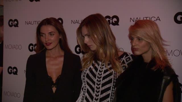 Alina Baikova Andreja Pejic and Michaela Kocianova at GQ Gentlemen's Cocktail Reception Awards Ceremony at The Gent on October 22 2015 in New York...