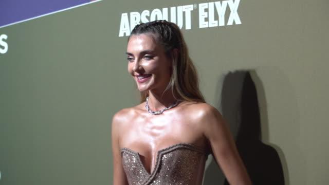 alina baikova at amfar gala - milan 2019 on september 21, 2019 in milan, italy. - アリーナ・バイコヴァ点の映像素材/bロール