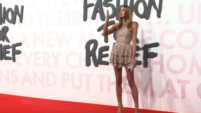 alina baikova at fashion for relief fashion catwalk - the 71st cannes fillm festival at aeroport cannes mandelieu on may 13, 2018 in cannes, france. - カンヌ・マンデリュー空港点の映像素材/bロール