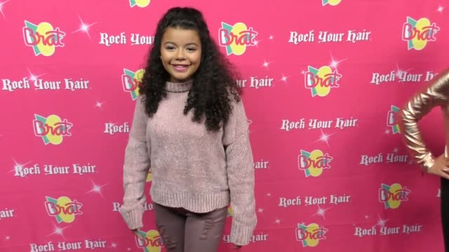 alina lopez at the rock your hair presents - rock back to school concert and party at avalon on september 30, 2017 in hollywood, california. - moderne rockmusik stock-videos und b-roll-filmmaterial
