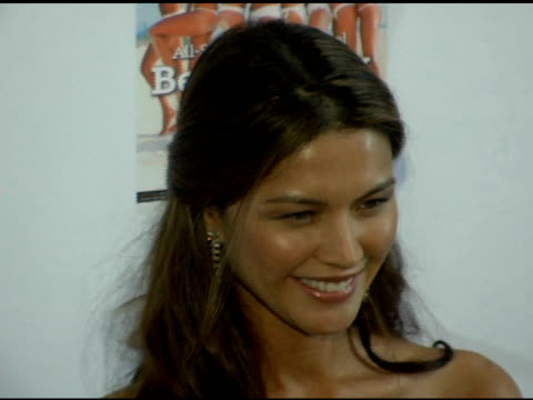 vídeos de stock, filmes e b-roll de aline nakashima at the 2006 sports illustrated swimsuit issue photocall at crobar in new york, new york on february 14, 2006. - crobar