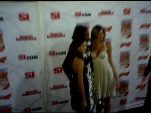 aline nakashima oluchi onweagba and anna beatriz barros at the 2006 sports illustrated swimsuit issue photocall at crobar in new york new york on... - sports illustrated swimsuit issue stock videos & royalty-free footage