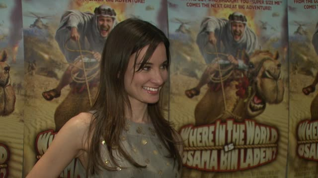 Alison Becker at the Premiere of Where in The World is Osama Bin Laden at the AMC Loews Lincoln Square in New York New York on April 15 2008