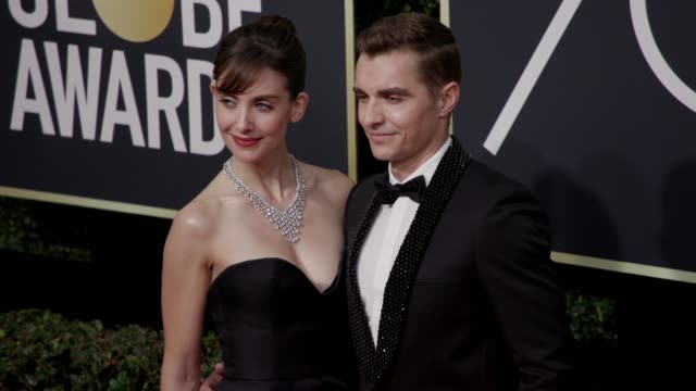 Alison Brie and Dave Franco at the 75th Annual Golden Globe Awards at The Beverly Hilton Hotel on January 07 2018 in Beverly Hills California