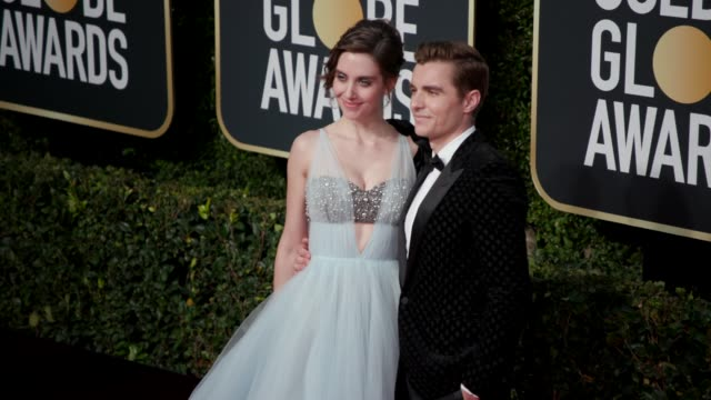 alison brie and dave franco at the 76th annual golden globe awards at the beverly hilton hotel on january 06 2019 in beverly hills california... - golden globe awards stock videos & royalty-free footage