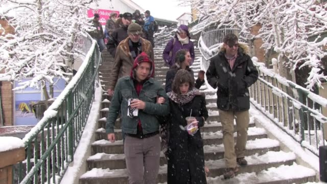 Alison Brie and Lizzy Caplan at Celebrity Sightings in Park City on 1/21/2012 in Park City UT
