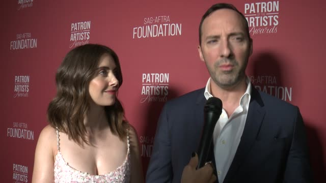 INTERVIEW Alison Brie and Tony Hale on the event at the SAGAFTRA Foundation's 3rd Annual Patron Of The Artists Awards at Wallis Annenberg Center for...