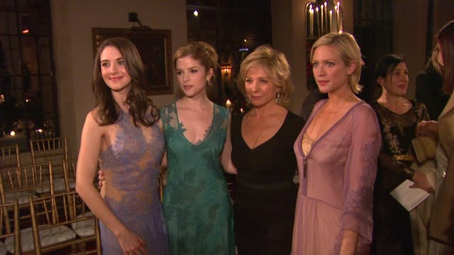 Alison Brie Anna Kendrick Alberta Ferretti Brittany Snow at Alberta Ferretti Limited Edition 2013 Collection on 1/10/13 in Los Angeles CA