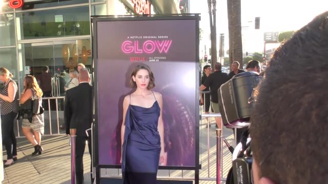 alison brie at a netflix original series glow los angeles premiere at arclight cinemas cinerama dome on june 21 2017 in hollywood california - cinerama dome hollywood stock videos and b-roll footage