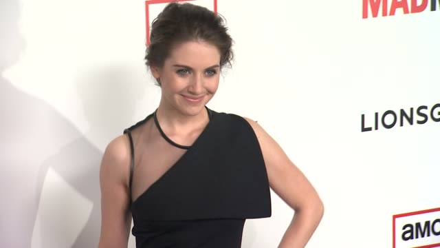 alison brie at amc's 'mad men' season 6 los angeles premiere 3/20/2013 in los angeles ca - platform shoe stock videos and b-roll footage