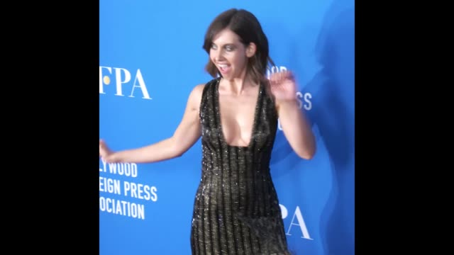Alison Brie at Hollywood Foreign Press Association's Grants Banquet Celebrity Video GIFs on in Hollywood California