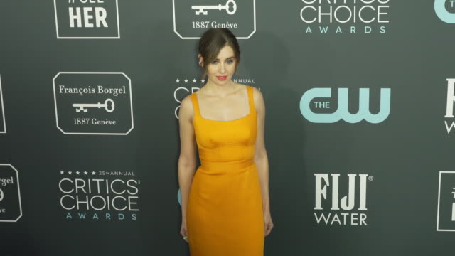 alison brie at the 25th annual critics' choice awards at barker hangar on january 12, 2020 in santa monica, california. - critics' choice movie awards stock videos & royalty-free footage