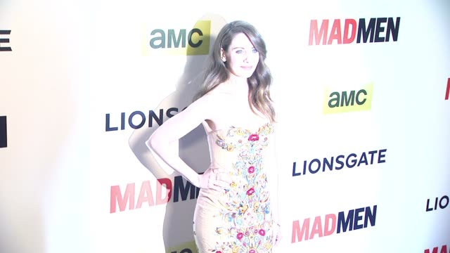 alison brie at the mad men season seven los angeles premiere at arclight cinemas on april 02 2014 in hollywood california - arclight cinemas hollywood stock videos and b-roll footage