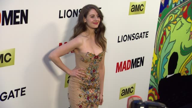 alison brie at the mad men season seven los angeles premiere at arclight cinemas on april 02 2014 in hollywood california - brie stock videos & royalty-free footage