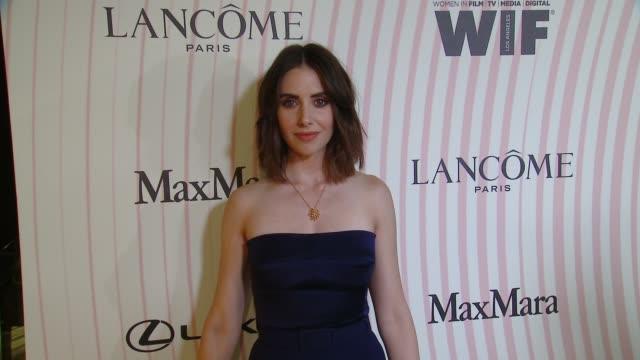 Alison Brie at the Women in Film 2018 Crystal Lucy Awards Presented by Max Mara Lancome and Lexus at The Beverly Hilton Hotel on June 13 2018 in...