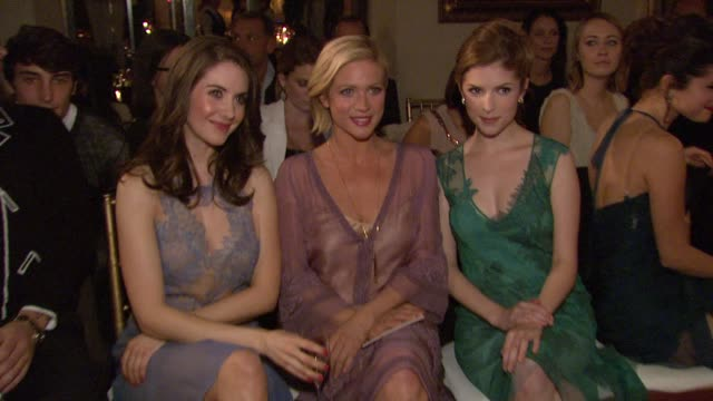 Alison Brie Brittany Snow Anna Kendrick at Alberta Ferretti Limited Edition 2013 Collection on 1/10/13 in Los Angeles CA