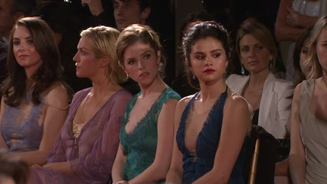 Alison Brie Brittany Snow Anna Kendrick Selena Gomez at Alberta Ferretti Limited Edition 2013 Collection on 1/10/13 in Los Angeles CA