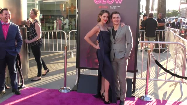 alison brie dave franco at a netflix original series glow los angeles premiere at arclight cinemas cinerama dome on june 21 2017 in hollywood... - cinerama dome hollywood stock videos and b-roll footage