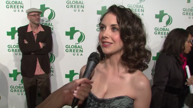 Alison Brie on attending tonight's event on being green and on the impact of tonight's event at the Global Green USA's 6th Annual PreOscar Party...
