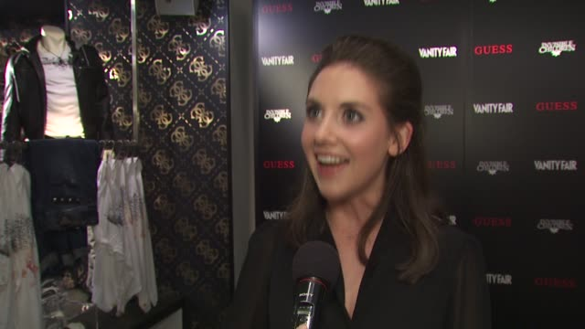 Alison Brie on attending tonight's event on why she supports Invisible Children on the tshirts and on her the first thing she ever bought from Guess...
