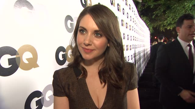 Alison Brie on what brings her out who he MOTY is and what flavor of ice cream she would be at the GQ's 2011 'Men Of The Year' Party at Los Angeles CA