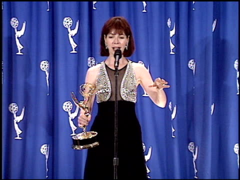 alison cross at the 1995 emmy awards press room at the pasadena civic auditorium in pasadena california on september 10 1995 - pasadena civic auditorium stock videos & royalty-free footage