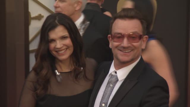 Alison Hewson and Bono 86th Annual Academy Awards Arrivals at Hollywood Highland Center on March 02 2014 in Hollywood California