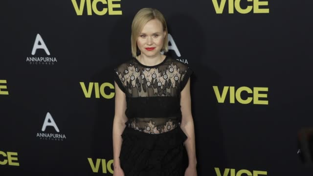 stockvideo's en b-roll-footage met alison pill at the vice world premiere at samuel goldwyn theater on december 11 2018 in beverly hills california - première