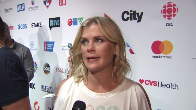 INTERVIEW Alison Sweeney at Stand Up To Cancer 2016 at Walt Disney Concert Hall on September 09 2016 in Los Angeles California