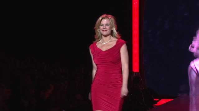 Alison Sweeney at the The Heart Truth's Red Dress Collection Runway Fall 2011 MBFW at New York NY