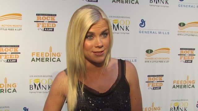 Alison Sweeney on being a part of the night what performance she's most looking forward to at the 'Rock A Little Feed A Lot' Benefit Concert at Los...