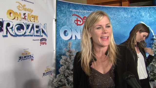 INTERVIEW Alison Sweeney on her daughter's love of Frozen the appeal of the story at Disney On Ice presents Frozen Los Angeles Celebrity Premiere in...