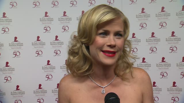 Alison Sweeney on the event why St Jude is so special to her at St Jude Children's Research Hospital 50th Anniversary Gala Benefit on 1/7/2012 in...